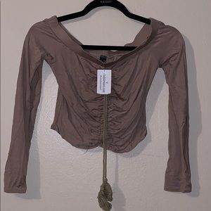 Windsor taupe top! Size M